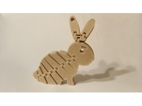 Flexi Rabbit Keychain