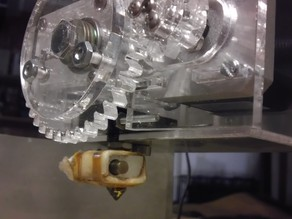 Acrylic Wade's Geared Extruder for QU-BD Hot end.