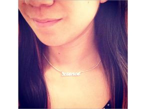 Science Text Necklace