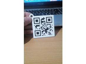 "QR_Keychain ""I Love You"""
