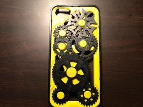 (Thin w/Lip) iPhone 5 Gear Case with Geneva mechanism