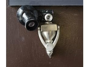 Door Peep Hole CSI camera Enclosure with Wide angle lens lip