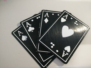 """3Deck"" of Poker cards for blind people"