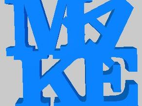 Customized WORD Sculpture- MAKE