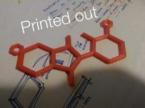 Molecule Necklace - Thalidomide