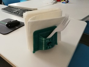 Napkin & Plastic Utensil Caddy