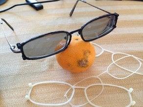 3D glasses clip