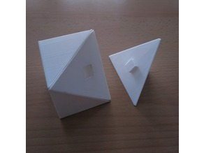 Cube divided into tetrahedra I