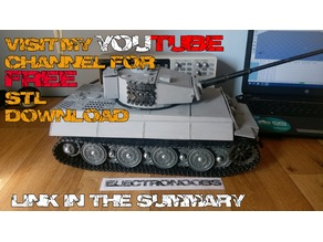 Tiger 1 3D printed tank