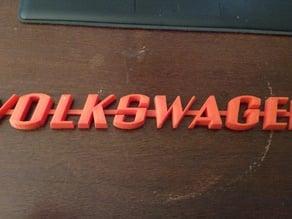 VW Automobile Emblem