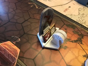 Gloomhaven monster standee base remix with embossed symmetrical wheels