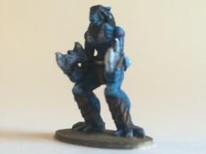 L'Thondra the Dragonborn Warrior