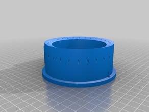 Fiber-optic ring flash for underwater camera