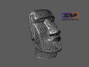 Moai Voronoi Style (Easter Island Sculpture)