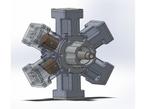6 cylinder radial 'steam' engine