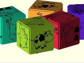 BilbyCNC Printober Happy farm animal blocks