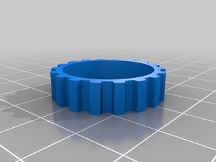 Printrbot idler pulley with 18 teeth.