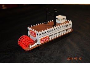 Steam Boat Paddle Wheeler w/ assembly instructions