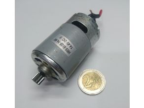 HRS 550 S 36x57 brushed DC drill motor dummy model STEP