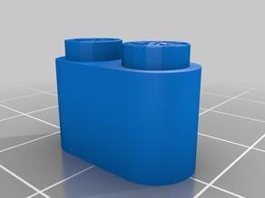 Tente cylinder 1x2 My Customized OpenSCAD Tente brick generator / Generador de ladrillos TENTE