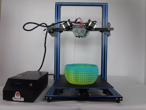 Upgrade CR10 /DIY 3D printer to KR-10S laser cut, mix color and dual color