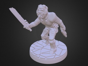 War Howler: Human Mutant (15mm and 28mm Scale)