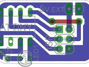 ATTINY ISP Target Board Home Etch Friendly