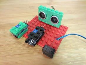 Lego Robot Sensors (Ultrasonic, IR, Button)