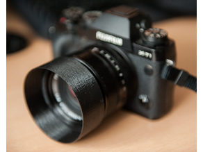 Reversible lens hood for Fuji 35mm F/1.4