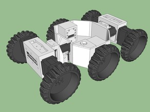 Open Academic Robot Kit: The Six-Wheeled Wonder - a 6 Wheel Drive robot platform using Dynamixel AX-12A servos
