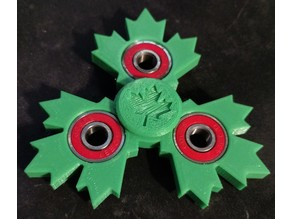 3 wing maple leaf spinner with caps