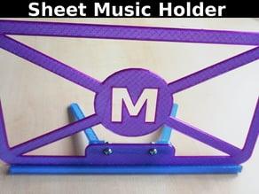 Sheet Music Holder