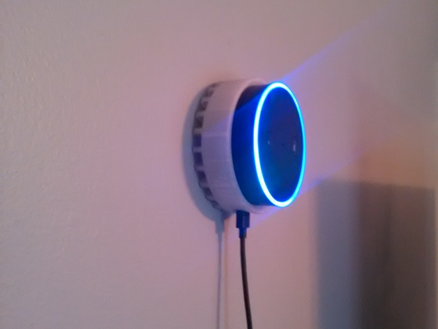 Amazon Echo Dot Wall Mount By Tinkeringt Thingiverse