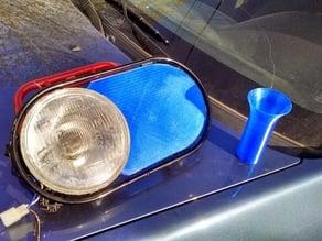 "Honda Ruckus ""Swayze Eye"" headlight blockout"