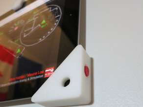 iPad wall mount with on/off button