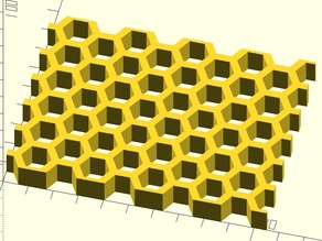 Honeycomb library (OpenSCAD)