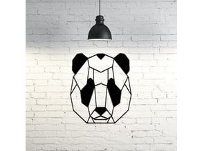 Panda face wall sculpture 2D