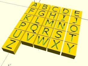 Parametric Letter Block