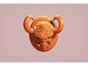 Tusk Demon Skull Magnet