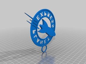 Planet Express Logo Keychain