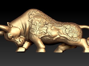 stronghero3d golden bull