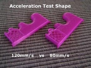 Acceleration Test Shape - Print Aid