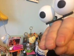 Ping Pong ball finger puppet