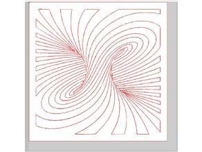 Laser cut twirl illusion remix