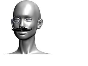 Mustache Monocle