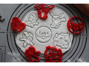 5 cookie cutters POKEMON - Classique