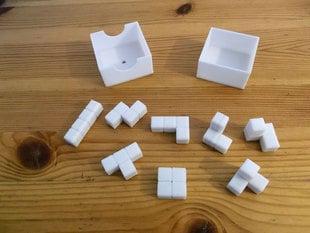 3D Tetris pieces puzzle with box
