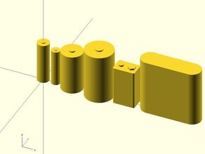Batteries in OpenSCAD