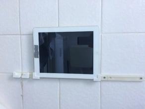 Simple rail iPad/iPhone5 wall holder