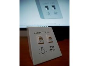 Portainterruttori Light-Fan